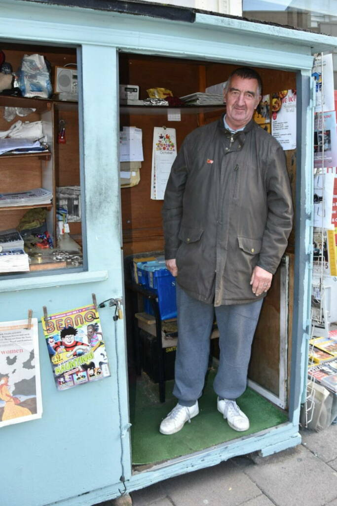 Paul Saxton in his shop